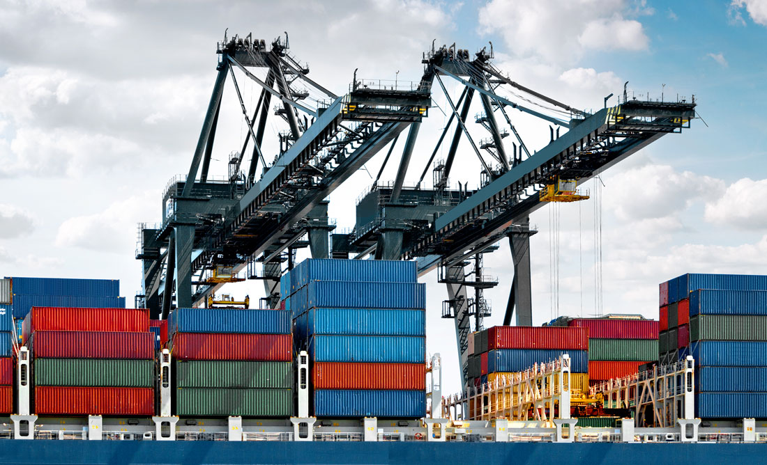 shipping container cranes